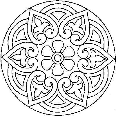 Snowflake Patterns To Trace Snowflake Mandala Pattern
