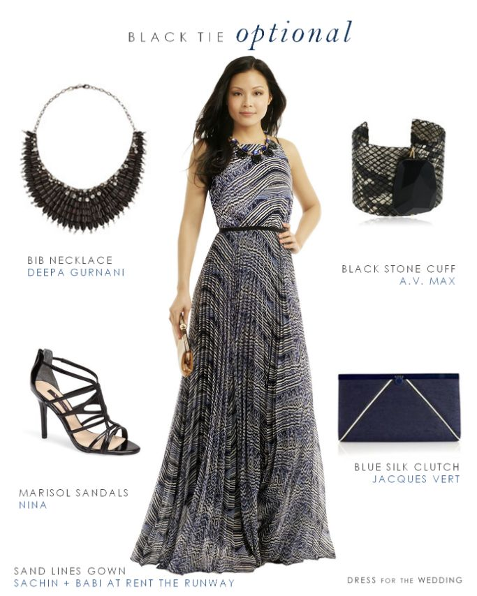 Examples of black tie optional dresses