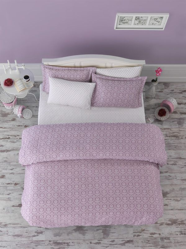 Damasse Dusty Rose Duvet Cover