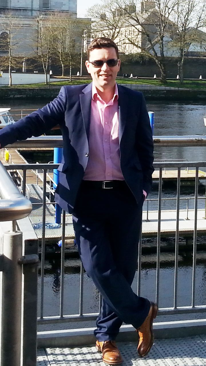Book Hub Publishing's MD, Dr. Niall McElwee, relaxing by the Shannon pre book launch.