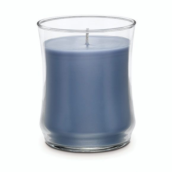"Cashmere Escential Jar™ Scented Candle The all-new Escential Jar Scented Candle for an even better candle experience! Exclusive patent-pending design features a flared opening to release more of the rich fragrance you love. Enjoy 40-60 hours of Cashmere – the warm, cozy scent of creamy wood and spice notes. 3¾""h, 3¼""dia."