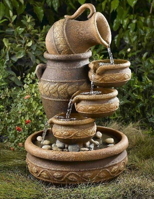 Best 25 fuentes de agua ideas only on pinterest for Antorchas para jardin caseras