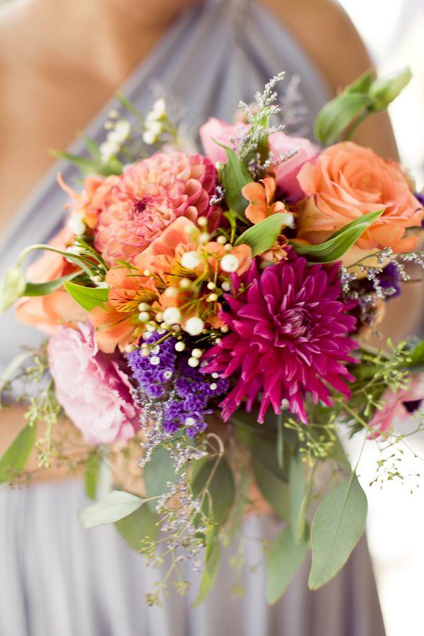 punchy bridesmaid's bouquet