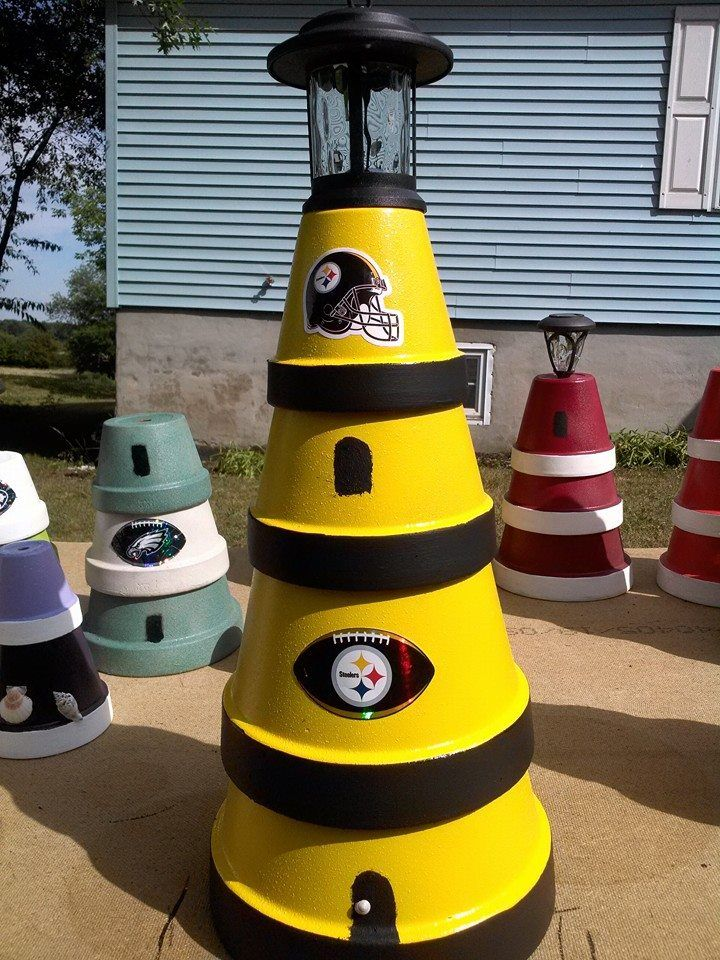 Big Steelers Lighthouses Bird Baths Apples Pumpkins