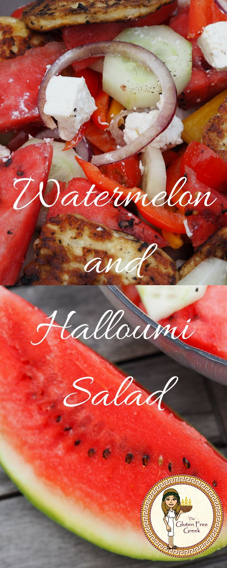 Watermelon and Halloumi Salad! Greek Style, Greek, Summer, Healthy