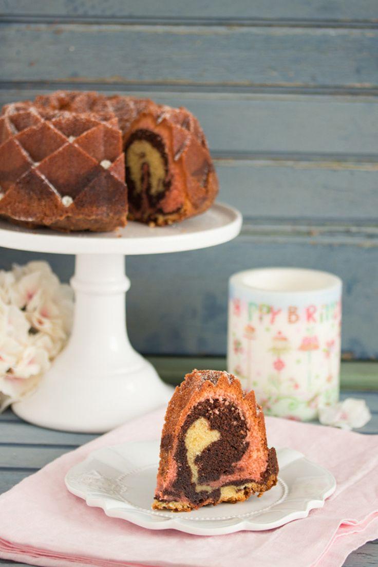 Neapolitanischer Marmorkuchen von Lisbeths, Bloggeburtstag | foodistas.de