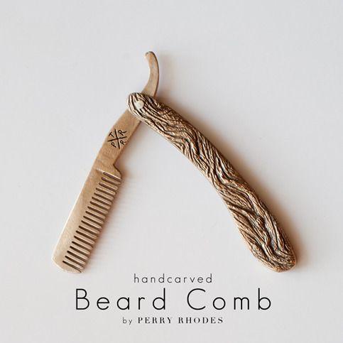 Tennessee Ritual (Straight Razor Beard Comb)