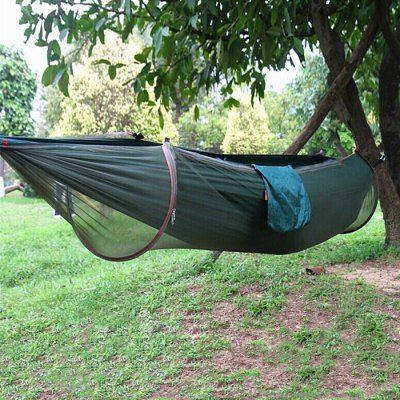 Just US$27.06 + free shipping, buy 2-Person Anti-mosquito Parachute Nylon Hammock online shopping at GearBest.com.