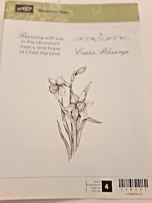 Stampin-Up-Abundant-Hope-4-Rubber-Clearmount-Stamp-Daffodil-Easter-Blessings