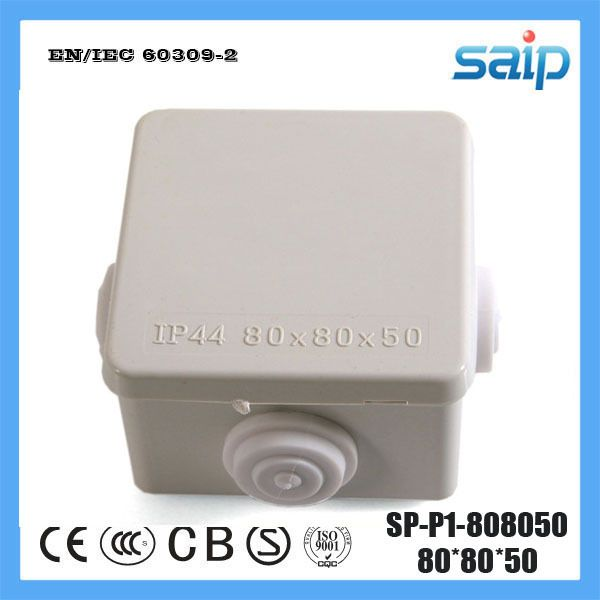 Saip ABS Material Waterproof Junction Box With 4 Holes SP-P1-808050 80*80*50