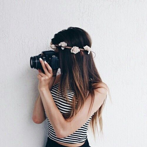 cameras, flowers, girls, photography, tumblr - image #4052966 by ...