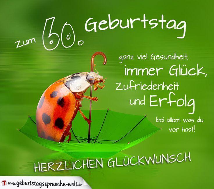 60 Geburtstag Karte Herzlichen Gluckwunsch Geburtstagsspruche