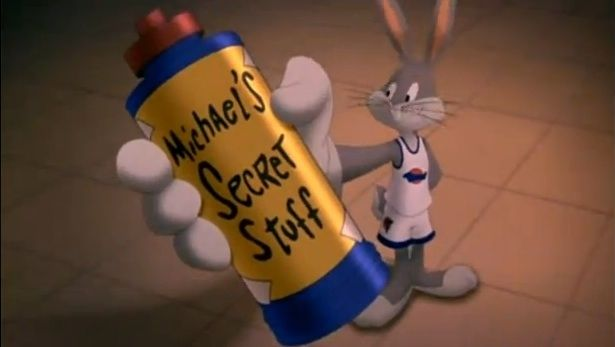 Michael's Secret Stuff employs the placebo effect. | The 7 Reasons Why 'Space Jam' Was Totally Realistic
