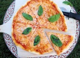 Saludable y baja en calorías receta FÁCIL de pizza margarita