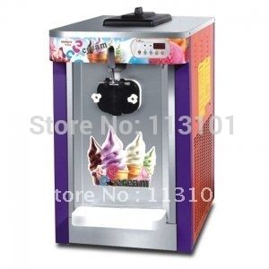 795.00$  Buy now - http://ali9q6.worldwells.pw/go.php?t=593833176 - Single Head Countertop Soft Sever Ice Cream Machine / Ice Cream Making Machine with Digital Counter and Cleaning