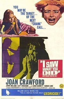 """I Saw What You Did (1965), this time William Castle turned the back rows of theatres into """"Shock Sections"""". Seat belts were installed to keep patrons from being jolted from their chairs in fright..."""