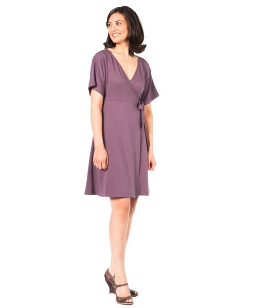 "UPF Clothing | UPF50+ ""Your Classic Wrap Dress"" in ""Ocean Blue"" by SummerSkin"