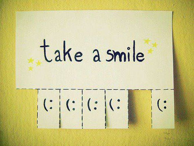 Take a Smile - love this... hanging one of these in our study!!!! :)