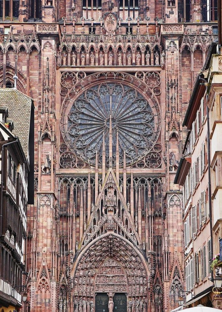 One of the most impressive structures built in the Middle Ages lies in the center of Strasbourg – the massive Cathedral of our Lady of Strasbourg. Admire its intricate façade and interiors and visit the astronomical clock inside – just one of the many amazing things to do in Strasbourg! Click through for a full guide.