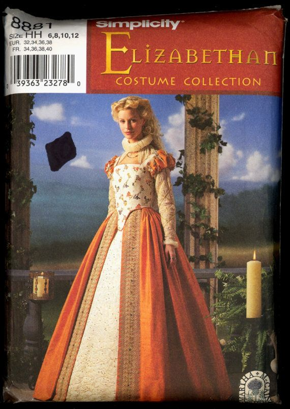 Uncut 1990s Size 6 8 10 12 Elizabethan Gown by VintagePatternsCo1