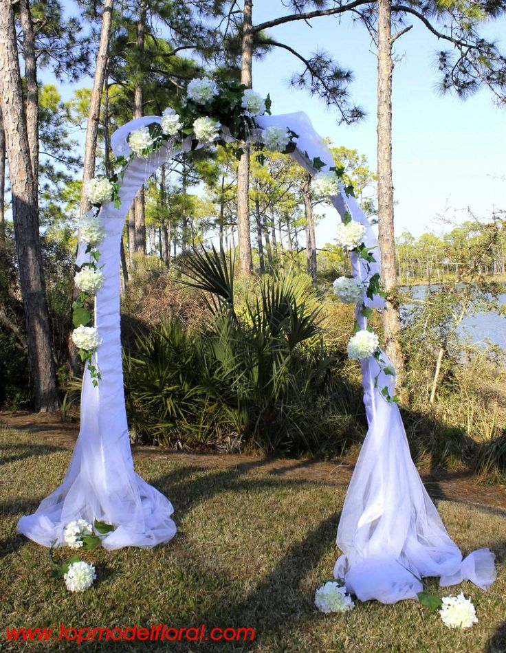 Best 20 wedding arch tulle ideas on pinterest bamboo for Arch decoration ideas