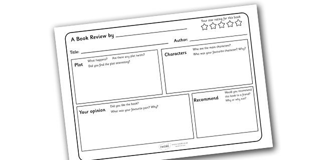 report writing template ks1 - twinkl resources book review writing template