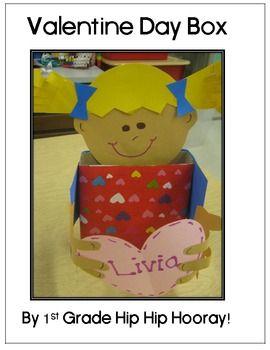 valentine box craft 1st grade hip hip hooray teacherspayteacherscom freebie