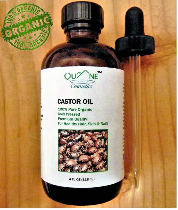 Organic Castor Oil for Hair Growth , Cold Pressed & Hexane Free 4 oz