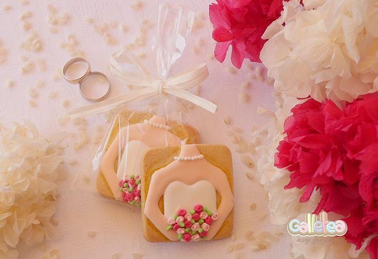 Galletas decoradas de boda.