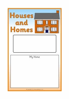 Houses and Homes editable topic book covers (SB7051) - SparkleBox