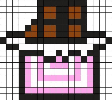 Chocolate Bar Perler Bead Pattern / Bead Sprite