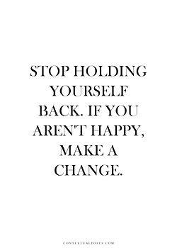 make a change.