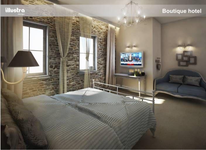 3d design rander boutique hotel room