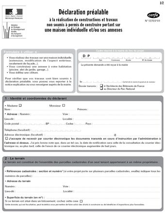 D claration pr alable pour la construction d 39 un garage for Plan de construction en ligne
