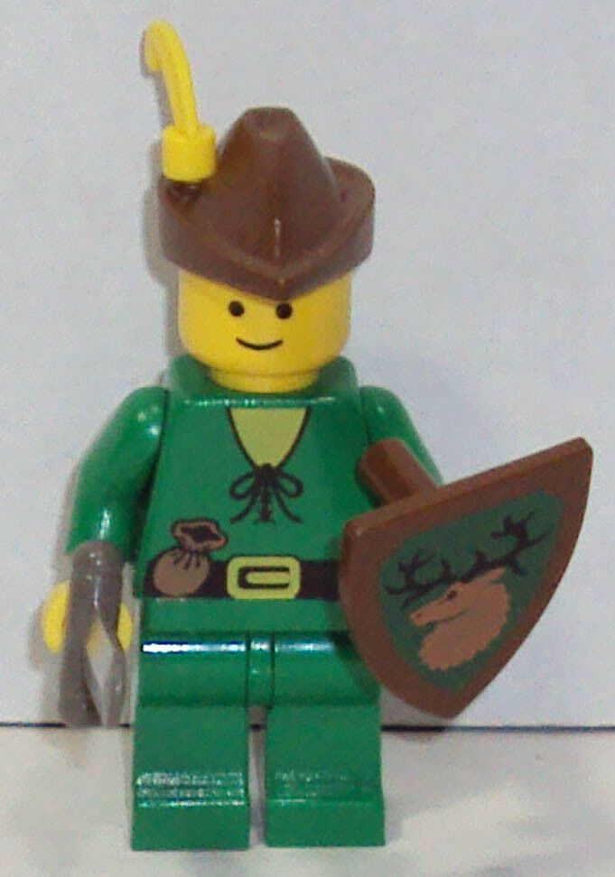 Lego Castle Forestmen Forestman Pouch Quiver Yellow Plume Minifigure