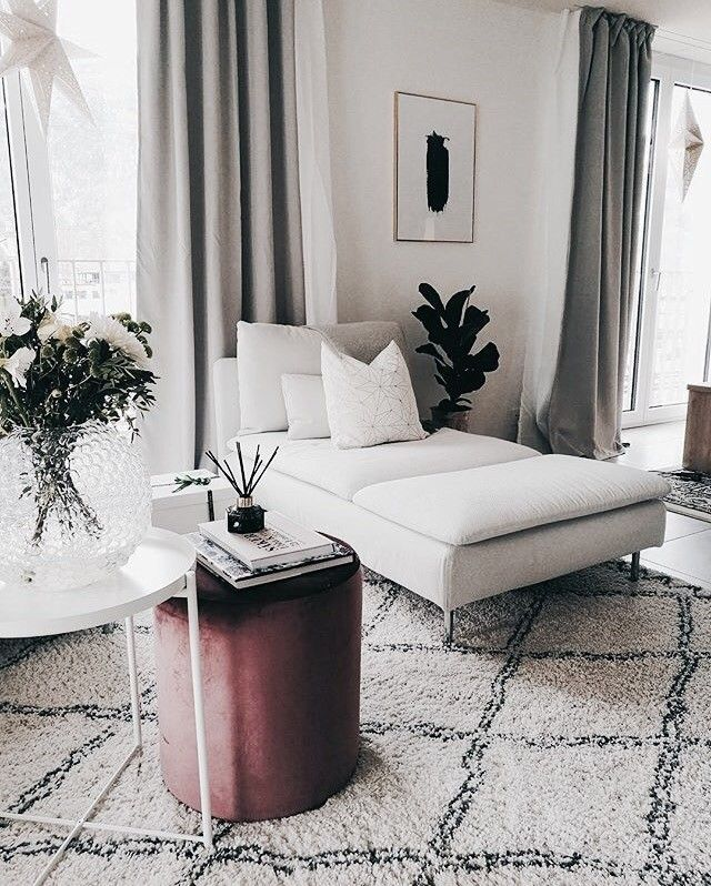 totally wouldn't mind living here.. | living room family room, rug, plants, home inspiration, house, living space, room, scandinavian, nordic, inviting, style, comfy, minimalist, minimalism, minimal, simplistic, simple, modern, contemporary, classic, classy, chic, girly, fun, clean aesthetic, bright, white, pursue pretty, style, neutral color palette, inspiration, inspirational, diy ideas, fresh, stylish, 2017, sophisticated
