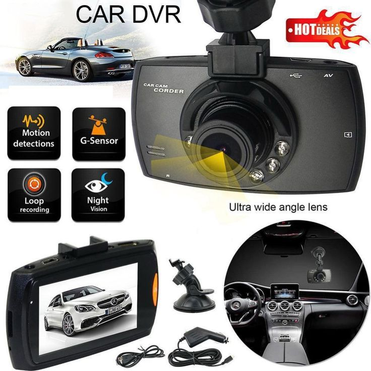 Portabel Pintar Mobil DVR Camera Dash Cam Perekam Video Kecelakaan Camcorder 2.4 ''LCD g-sensor Night Vision HDMI