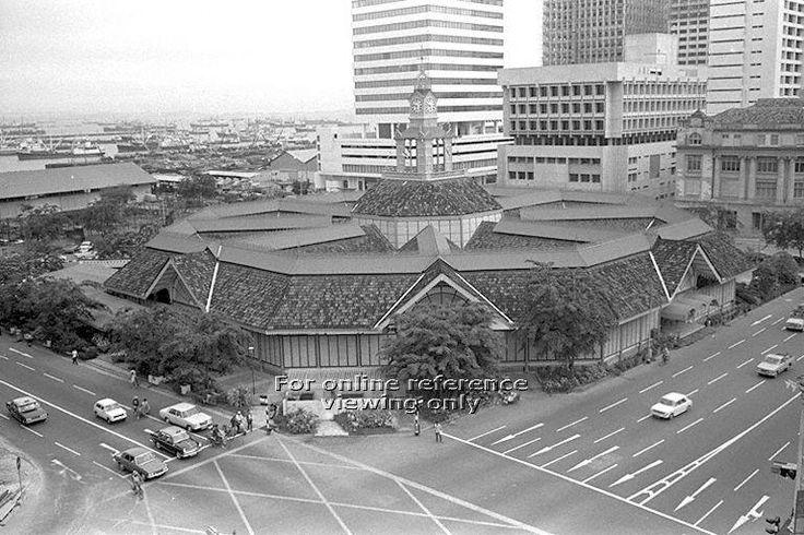 Telok Ayer Market Food Centre or Lau Pa Sat, Singapore - 1973
