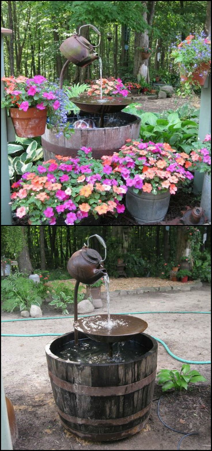 83 best water features images on pinterest a project for Pot water feature ideas