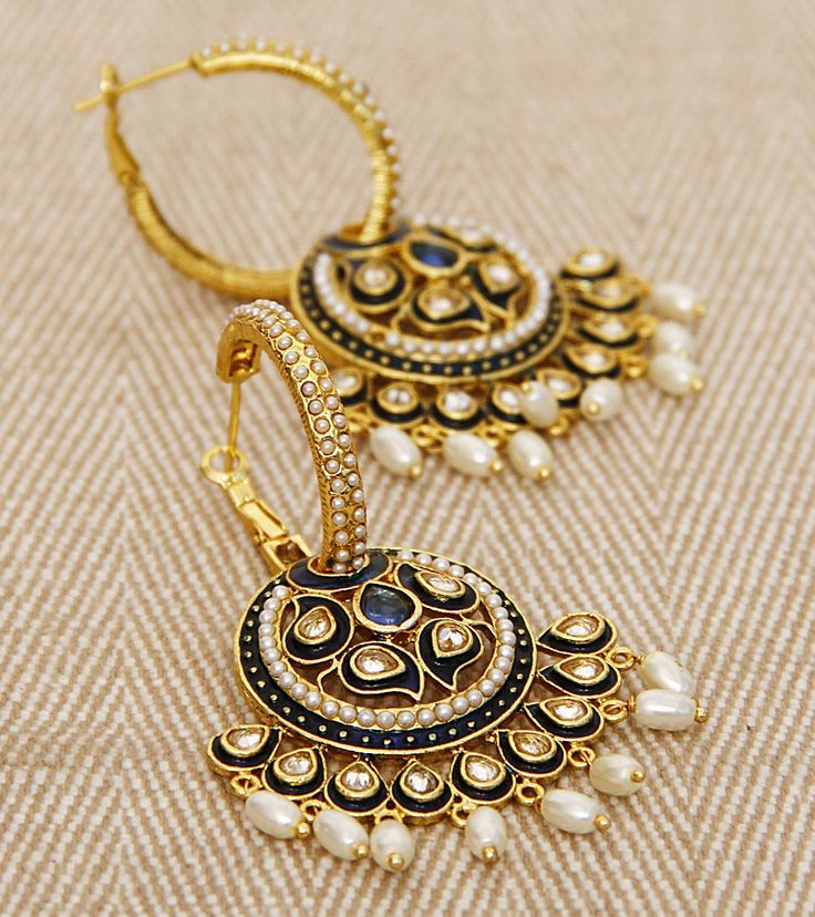 Kundan & Pearl Embellished Traditional Jhumki