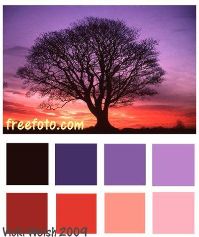 Beautiful sunset color palettes for your sunset wedding theme.     www.hawaiianweddings.net  #Purplewedding  #Sunsetwedding  #Sunsetcolors  #Hawaiiwedding