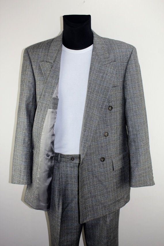 HUGO BOSS Vintage Komplett Anzug Second Hand Mode Perfekter Zustand Kleidung Herren Mode Jacken Unisex Accessoires Bekleidung NR:53