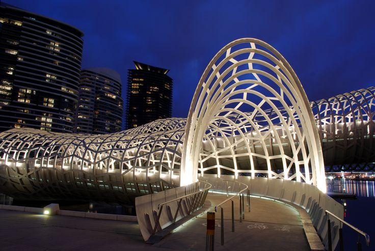 Webb Bridge in Melbourne, Australia.
