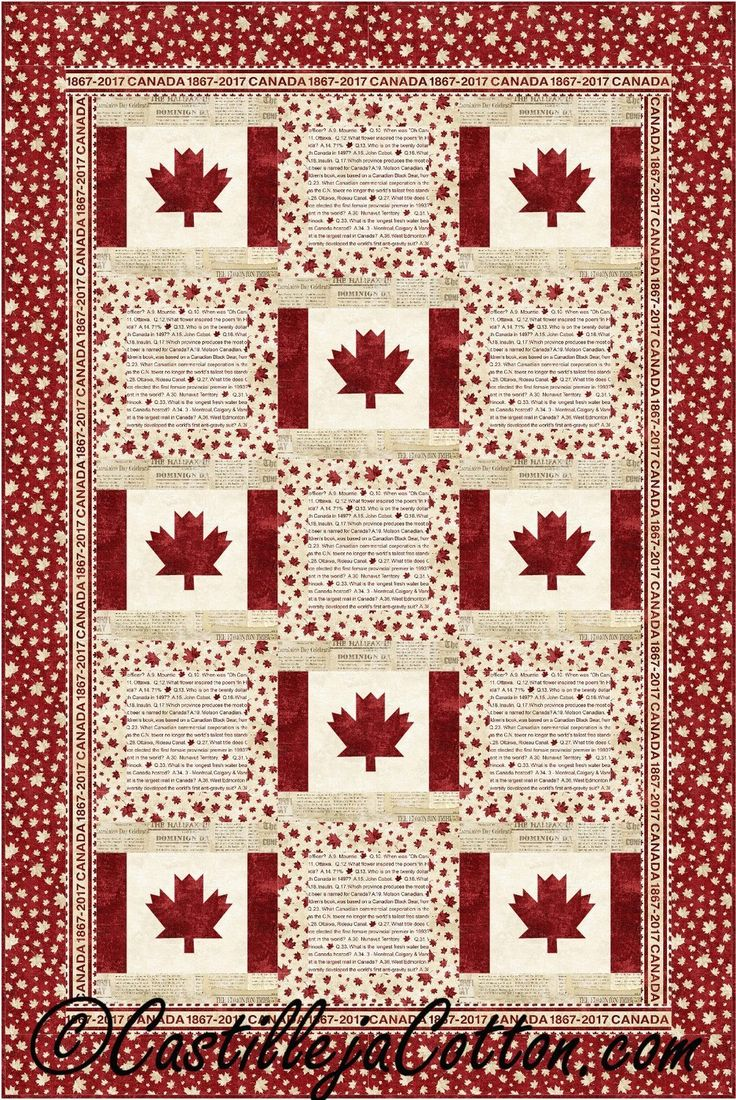 Canada is My Country Quilt Pattern