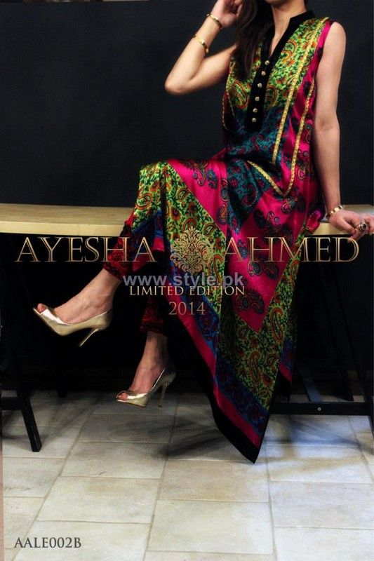Ayesha Ahmed Party Dresses 2014 For Women 7