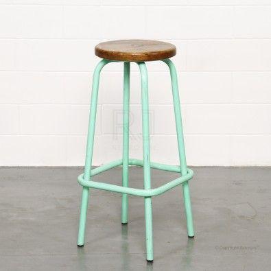 Clifford Industrial Stool - Mint Green