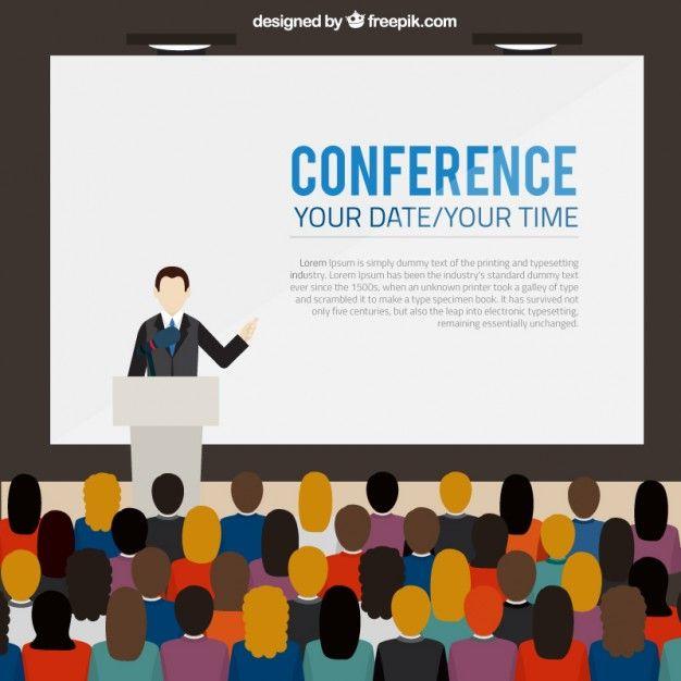 Conferencia Modelo de banner Vector Gratis