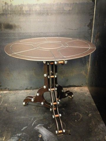 Steampunk Industrial And End Tables On Pinterest