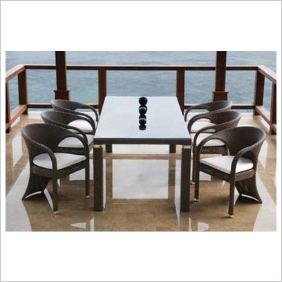 wicker outdoor dining chairs melbourne room sets furniture garden rattan table