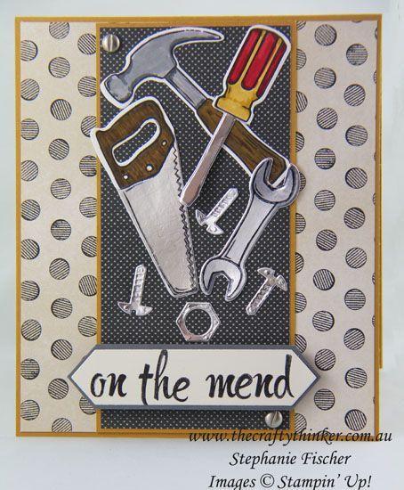 www.thecraftythinker.com.au, Masculine Get Well, Urban Underground, Nailed It, #thecraftythinker, Stampin' Up